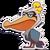 Sticker pelican