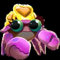 Queen crab portrait