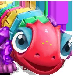 Portrait Rainbow Lizard