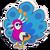 Sticker peacock
