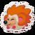 Sticker Hedgehog Orange