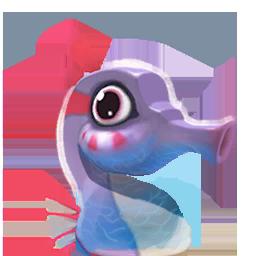 Seahorse Purple portrait