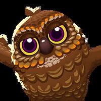 Portrait Spooky Owl