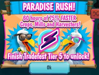Paradise rush promo