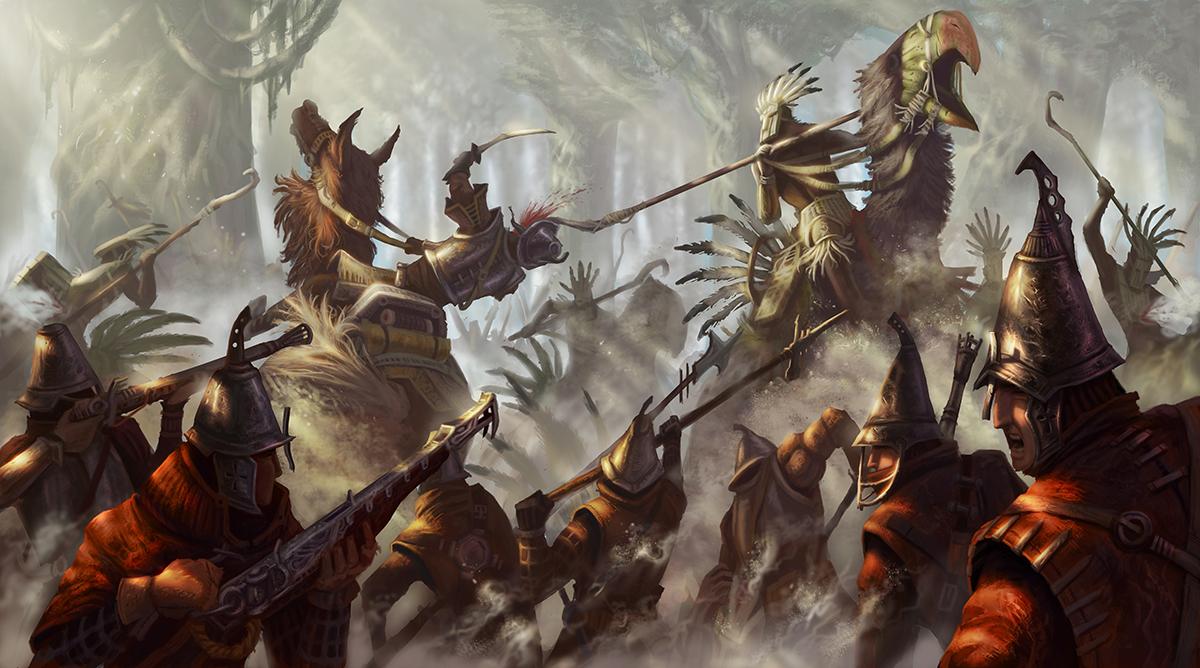 Hd Fantasy Battle Scene Wallpapers: Andusian-Xibalban War