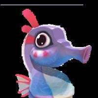 Portrait seahorse purple