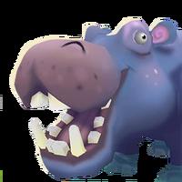Portrait hippo