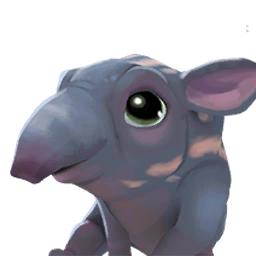 Portrait tapir blue