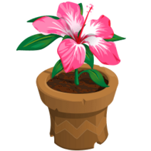 Gazebo event potted flower