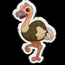 Sticker Ostrich