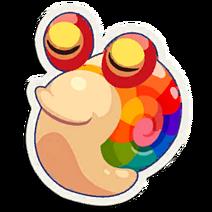 Sticker Rainbow Snail