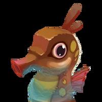 Portrait seahorse brown