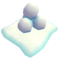 Deco holiday snowball stack