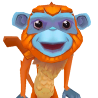 Portrait monkey orange