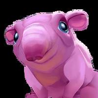 Portrait tapir pink