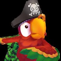 Portrait Pirate Parrot