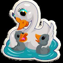 Sticker swans