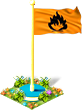 Flag flammable