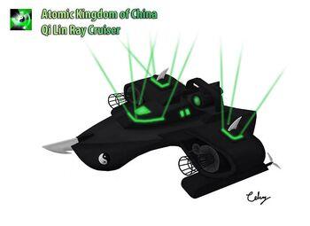 Chinese Qilin Ray Cruiser Concept Art