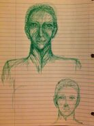Green pen sketch harris image