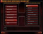 UI Secondary Power Select