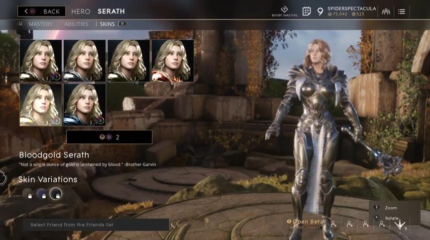 Serath Gunmetal Bloodgold skin