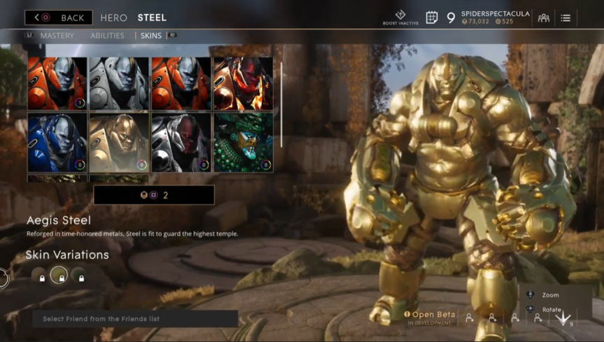 Steel Gilded Aegis skin