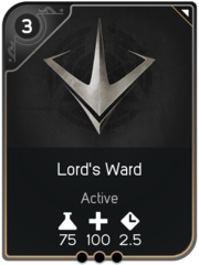 Lord's Ward card