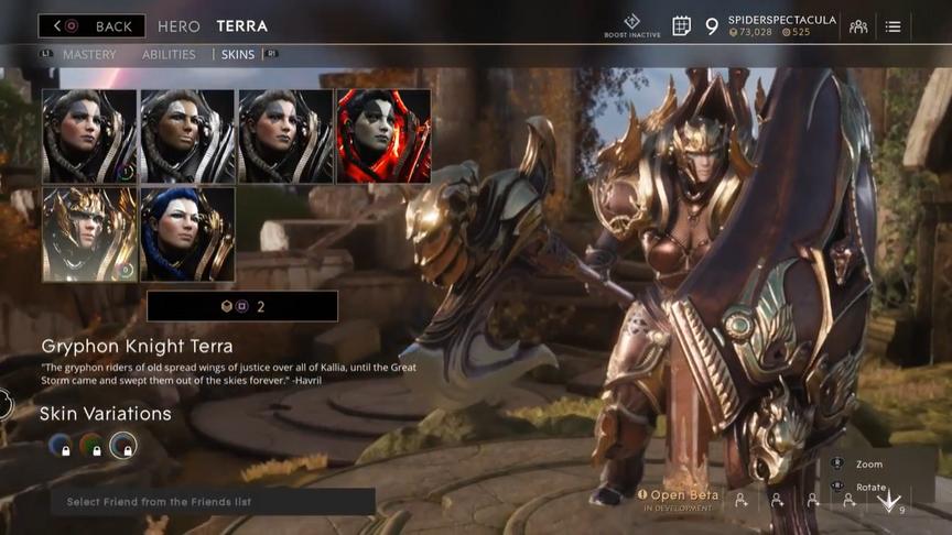 Terra Bronze Gryphon Knight skin