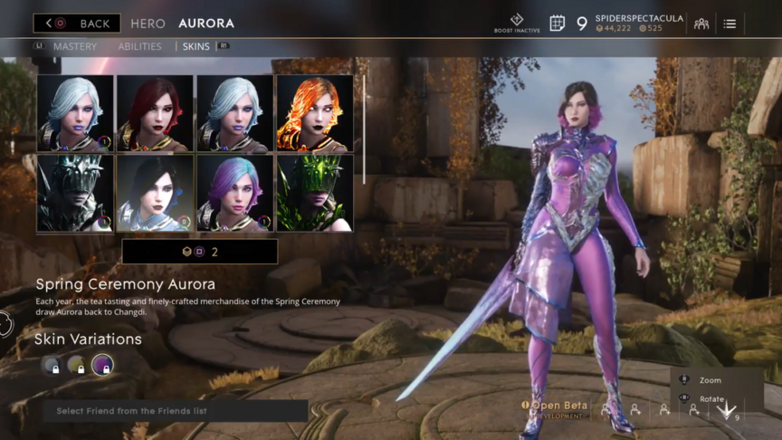 Aurora Royal Spring Ceremony skin