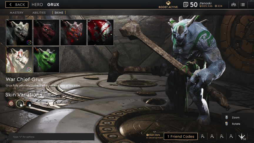 Grux Emerald War Chief skin
