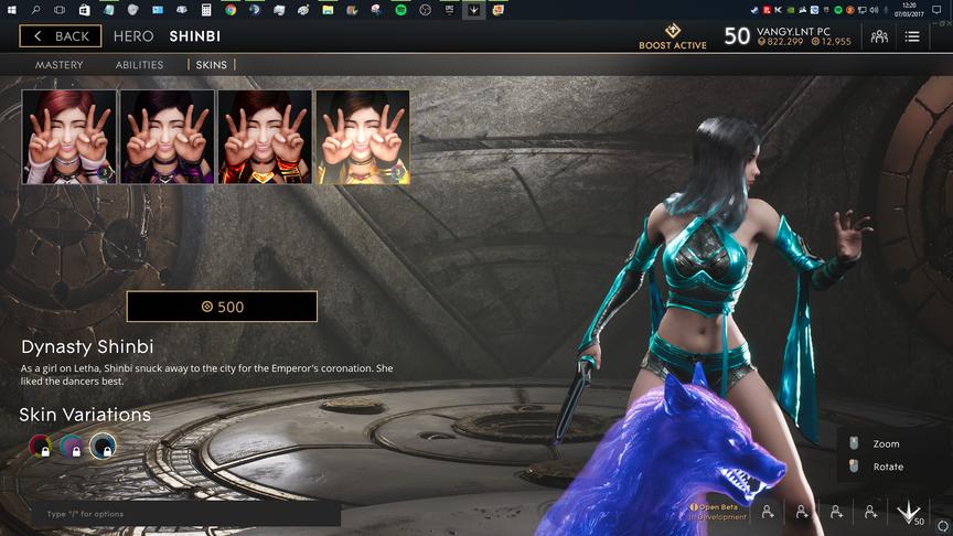 Shinbi Blue Dynasty skin