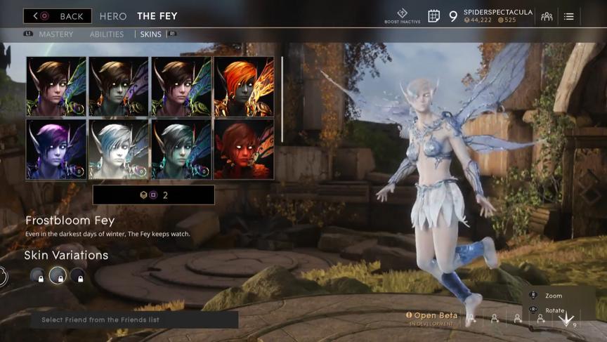 The Fey Sky Frostbloom skin