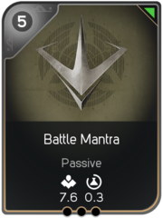 Battle Mantra card