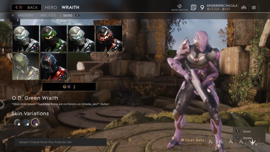 Wraith Lavender O.D. skin