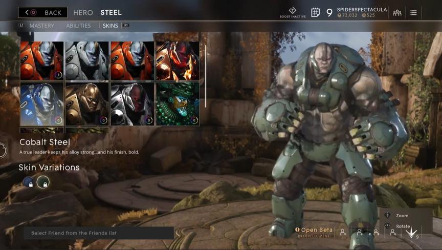 Steel Military Cobalt skin