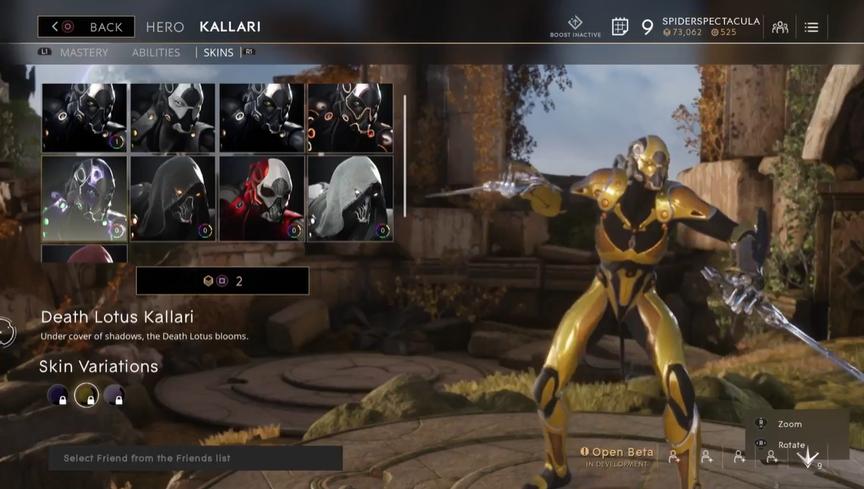 Kallari Gilded Death Lotus skin