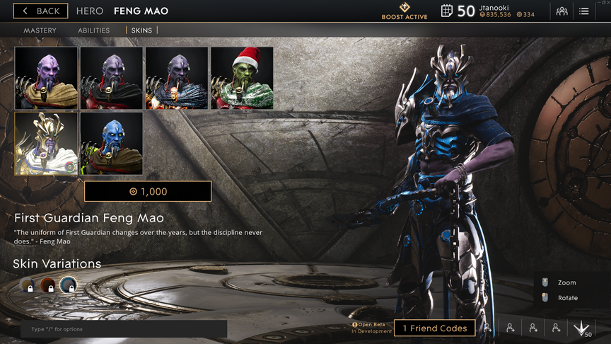 Feng Mao Cobalt First Guardian skin