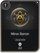 Minor Barrier