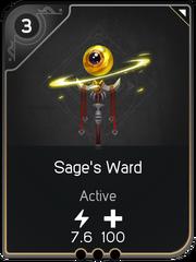 Sage's Ward card