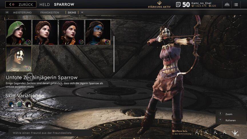 Sparrow Royal Undead skin