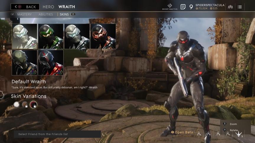 Wraith Onyx Default skin