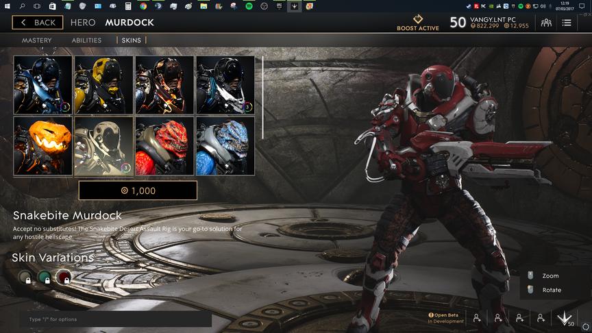 Murdock Red Snakebite skin