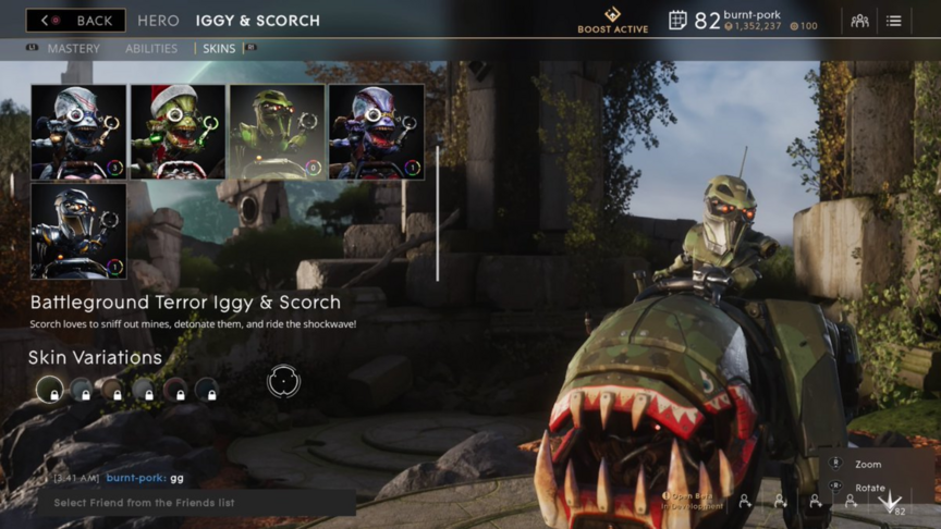 Iggy and Scorch Battleground Terror skin