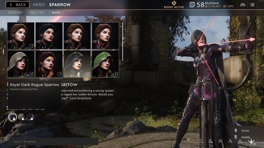 Sparrow Royal Garb Rogue skin