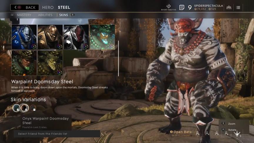 Steel Onyx Warpaint Doomsday skin