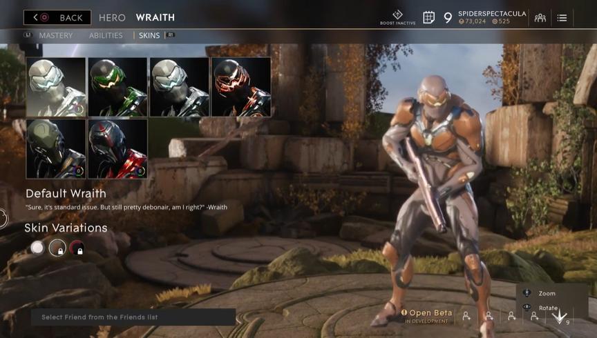 Wraith Bronze Default skin