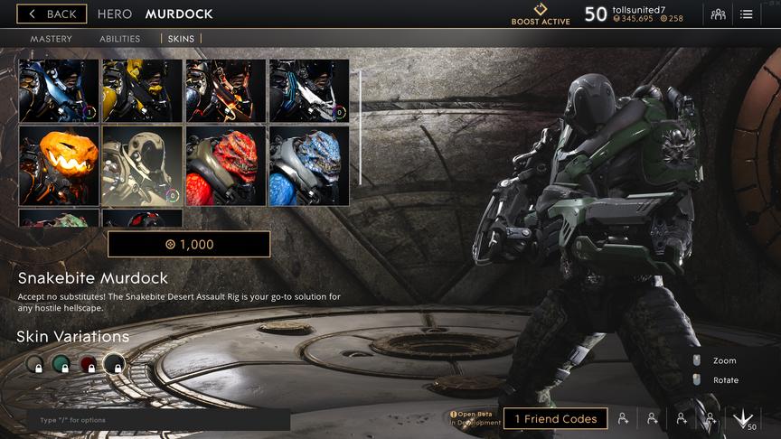 Murdock Black Snakebite skin