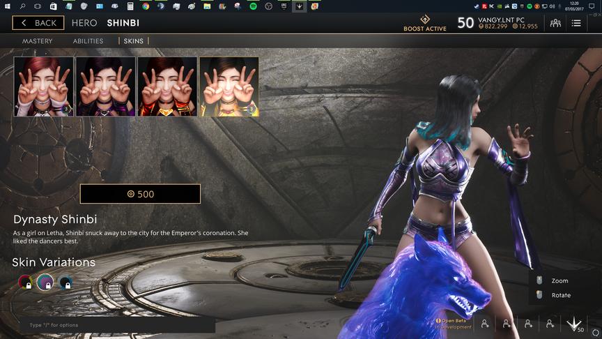 Shinbi Purple Dynasty skin