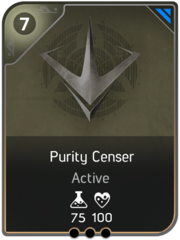 Purity Censer card